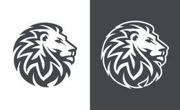 För vektorlogo för lejon head design, abstrakt tigerlogo Royaltyfri Fotografi