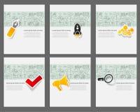 För vektormallar för företags identitet uppsättning med Royaltyfria Foton