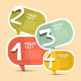 För vektorpapper för fyra moment Infographic mall Royaltyfria Bilder