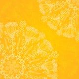 För vektorprydnad för tappning etnisk bakgrund för apelsin Royaltyfri Bild
