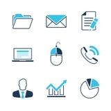För vektorsymbol för kontor enkel uppsättning royaltyfri illustrationer