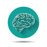 För vektorsymbol för mänsklig hjärna illustraton för lägenhet med royaltyfri illustrationer