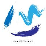 För vektorvattenfärg för vektor färgrika slaglängder för borste, illustration EPS10 Arkivbild