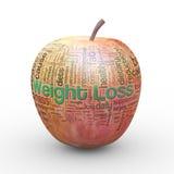 för viktförlust för äpple 3d etiketter för wordcloud Fotografering för Bildbyråer