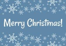 För vintersnöflingor för glad jul vykort Kort f?r vektorferieh?lsning vektor illustrationer