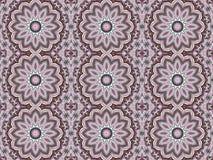 För violetbrunt för abstrakta sömlösa runda retro blomningar rosa gräns - gräsplan vektor illustrationer