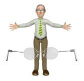 För visionsynförmåga för morfar oskarp illustration Arkivfoton