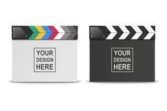 F?r vit f?r vektor 3d realistisk st?ngd fastst?lld Closeup och svart tom f?r filmfilm som f?r appl?d symbol f?r br?de isoleras p? stock illustrationer
