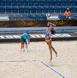 För volleybollvärld för strand 2011 mästerskap - Rome, Italien Royaltyfria Foton