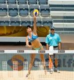 För volleybollvärld för strand 2011 mästerskap - Rome, Italien Arkivbild