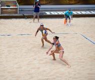 För volleybollvärld för strand 2011 mästerskap - Rome, Italien Fotografering för Bildbyråer