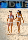 För volleybollvärld för strand 2011 mästerskap - Rome, Italien Royaltyfri Fotografi