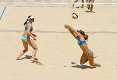 För volleybollvärld för strand 2011 mästerskap - Rome, Italien Arkivfoton