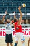 För volleybollvärld för strand 2011 mästerskap - Rome, Italien Arkivfoto