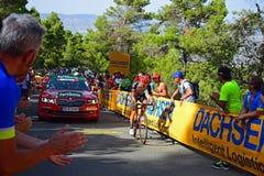 För Vuelta España för La för loppdirektörbil lopp cirkulering royaltyfri fotografi