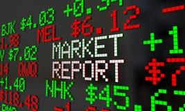 För Wall Street för materiel för nyheterna för marknadsrapport Ticker pris Royaltyfri Bild