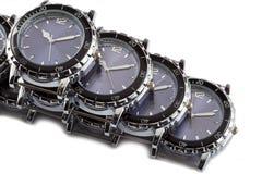för watcheswhite för bakgrund tät övre wrist royaltyfri fotografi