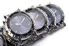 för watcheswhite för bakgrund tät övre wrist arkivfoton