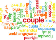 För wordcloudbakgrund för par multilanguage begrepp Royaltyfri Fotografi
