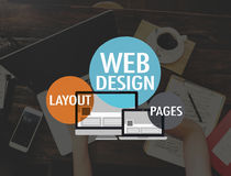 För WWW för Website för rengöringsdukdesign begrepp för anslutning för sida orientering Royaltyfria Foton
