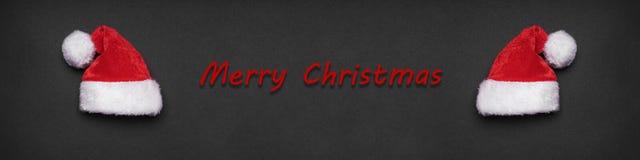 För xmas-hälsning för glad jul baner eller titelrad royaltyfri foto