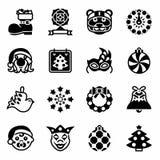 För Yers för vektor amerikansk ny uppsättning symbol stock illustrationer