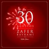 för zaferbayrami för 30 agustos illustration för vektor stock illustrationer