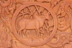 För zodiakdjur för oxe det kinesiska tecknet Arkivfoto