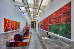 För zonaera för 798 Art District Peking Kina Arkivfoton