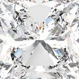 för zoommakro för illustration 3D diamant för vit gemstone dyr Royaltyfria Bilder