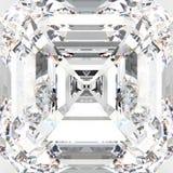 för zoommakro för illustration 3D diamant för vit gemstone dyr Arkivfoto