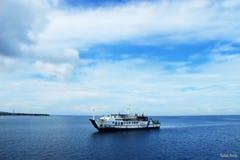 förankrad ship Royaltyfri Foto