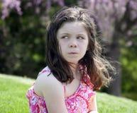 Förargad liten flicka Royaltyfri Foto