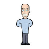 förargad tecknad film bli skallig mannen Royaltyfri Bild