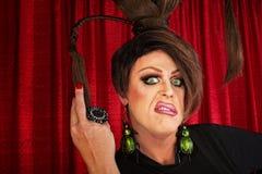 Förargad transvestit Fotografering för Bildbyråer