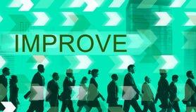 Förbättra begrepp för ändring för förbättringsutveckling bättre arkivfoton