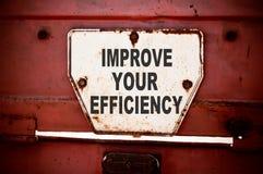 Förbättra din effektivitet Arkivfoton