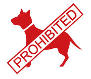 förböd hundar Royaltyfri Foto