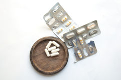 Förbered uppsättningen av medicin arkivfoto