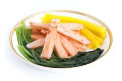 Förbereda den koreanska sushi Arkivfoto