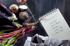 Förbereda den vegetariska matställen Royaltyfria Foton