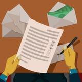Förbereda lönelista för anställda Arkivfoton