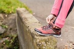 Förbereda sig för att jogga Royaltyfria Foton