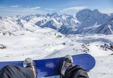 Förbereda sig för en ritt från Elbrus Arkivfoto