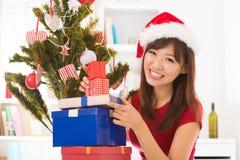 Förbereda sig för juldag Arkivfoton