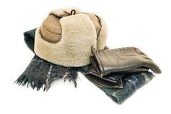 Förbereda sig för vintern, varma kläder Arkivfoton
