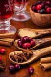 Förbereda varm mulled wine royaltyfria bilder