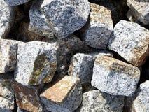 Förberedande closeup för grå granit Arkivfoton