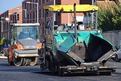 Förberedande medel för asfalt och vägrulle Royaltyfria Bilder