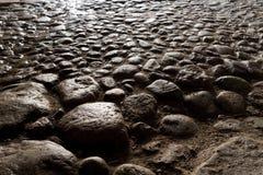 förberedande stenar Arkivfoton